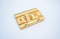 Шкатулка для денег 100 долларов