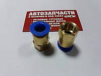 Фитинг пневматический прямой Д12 М16х1.5 внутренняя (3/8 дюйма)