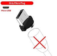 Магнітний круглий конектор Micro USB TOPK