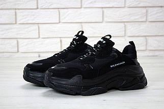 Мужские черные Кроссовки Balenciaga Triple S