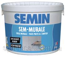 Клей готовый для стеклообоев и ткани SEMIN SEM-MURALE 10кг
