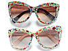 Солнцезащитные очки в стиле D&G цветочная мозаика. шоколад, фото 8