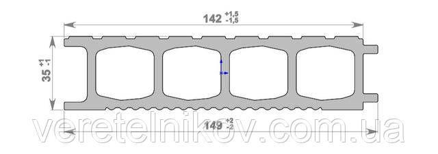 Террасная доска HOLZDORF Impress (Хольцдорф Импрэс) 149×35х3000 мм.