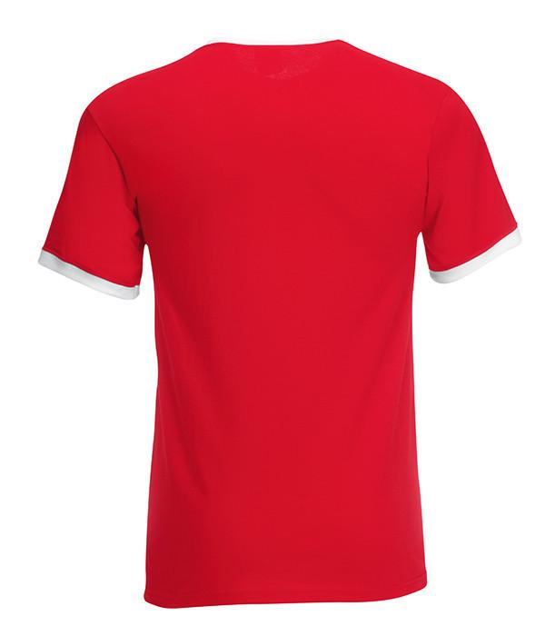 Мужская футболка с манжетами L, RW Красный / Белый