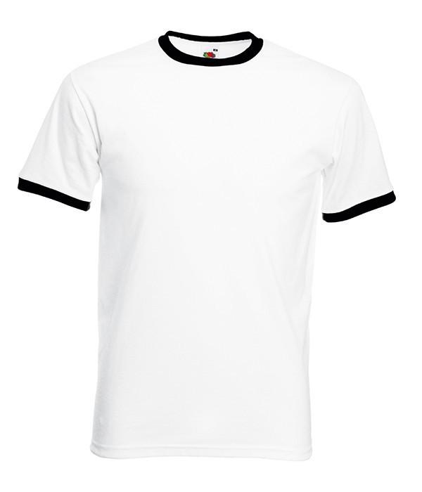 Мужская футболка с манжетами 3XL, TH Белый / Черный