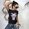 Женская футболка с принтом зайка