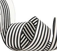 Лента полосатая темносиняя-белая 25 мм, фото 1