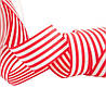 Лента полосатая красно-белая 25 мм