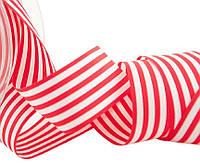 Лента полосатая красно-белая 25 мм, фото 1
