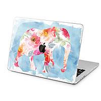 Чехол пластиковый для Apple MacBook (Цветочный слон) модели Air Pro Retina 11 12 13 15 2015 2016 2017 2018 эпл макбук эйр про ретина case hard cover