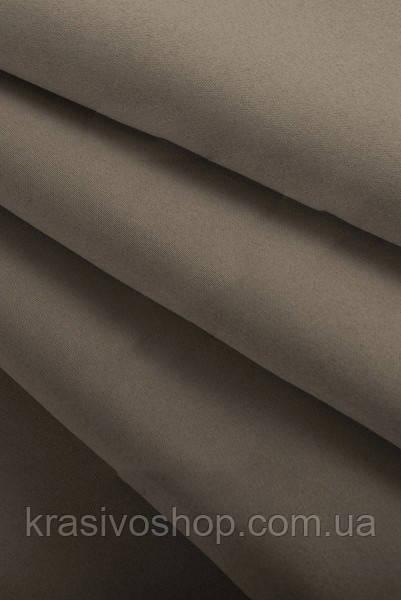 Ткань  блекаут   однотонный серо-коричневый