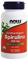 Спирулина Now Foods - Spirulina 500 мг (100 таблеток)