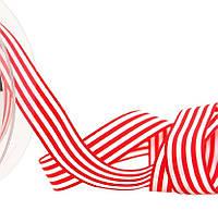 Лента полосатая красно-белая 16 мм, фото 1