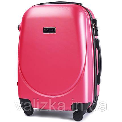 Пластиковый чемодан Wings 310 S+ для ручной клади розово-красный, фото 2