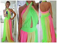 Платье женское яркое ДЕ067
