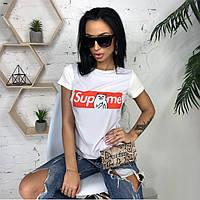 Белая футболка женская с рисунком, фото 1