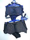 Купальник женский шортики темно-синий в полоску, фото 6