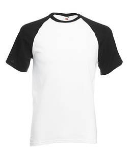 Мужская футболка двухцветная S, TH Белый / Черный