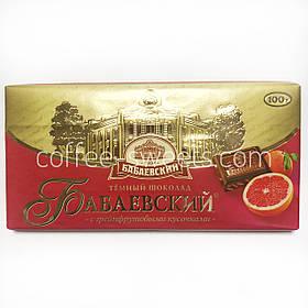 Шоколад Бабаевский 100г тёмный с кусочками грейпфрута