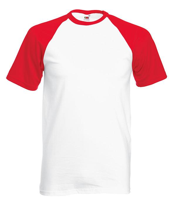 Мужская футболка двухцветная L, WM Белый / Красный