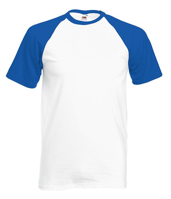 Мужская футболка двухцветная XL, AW Белый / Ярко Синий