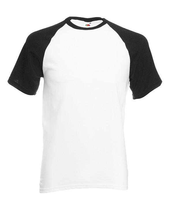Мужская футболка двухцветная 2XL, TH Белый / Черный