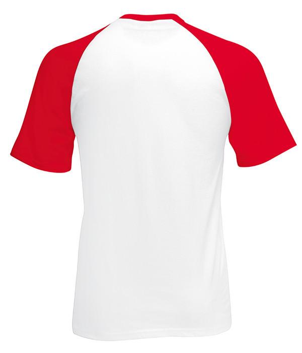 Мужская футболка двухцветная 2XL, WM Белый / Красный