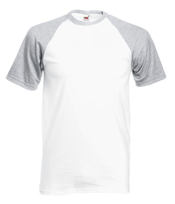 Чоловіча футболка двоколірна XL, WF Білий / Сіро-Ліловий