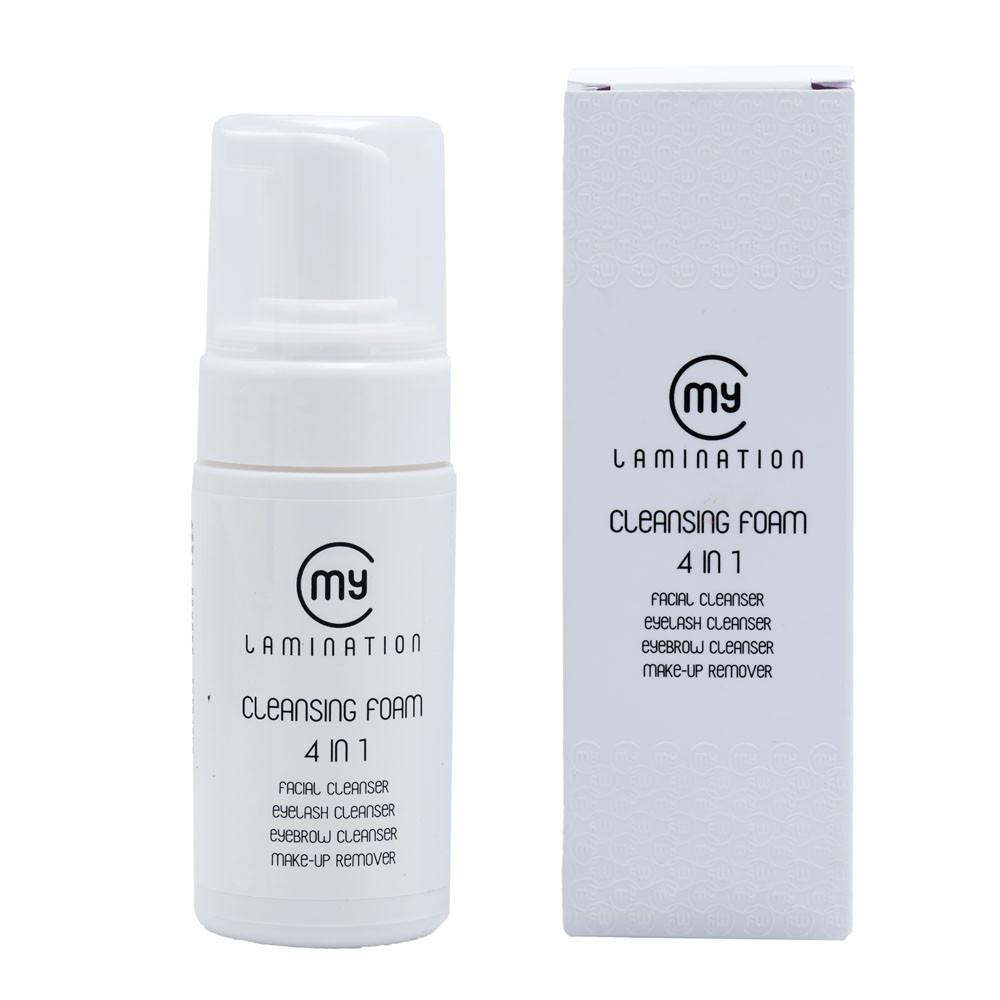 Пенка для снятия макияжа 4 в 1 My Lamination, 120 ml (мусс для снятия макияжа с лица, глаз, ресниц и бровей)