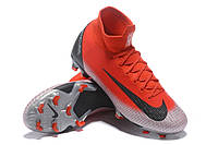 Футбольные бутсы Nike Mercurial Superfly VI 360 Elite FG Flash Crimson/Black/Total Crimson, фото 1