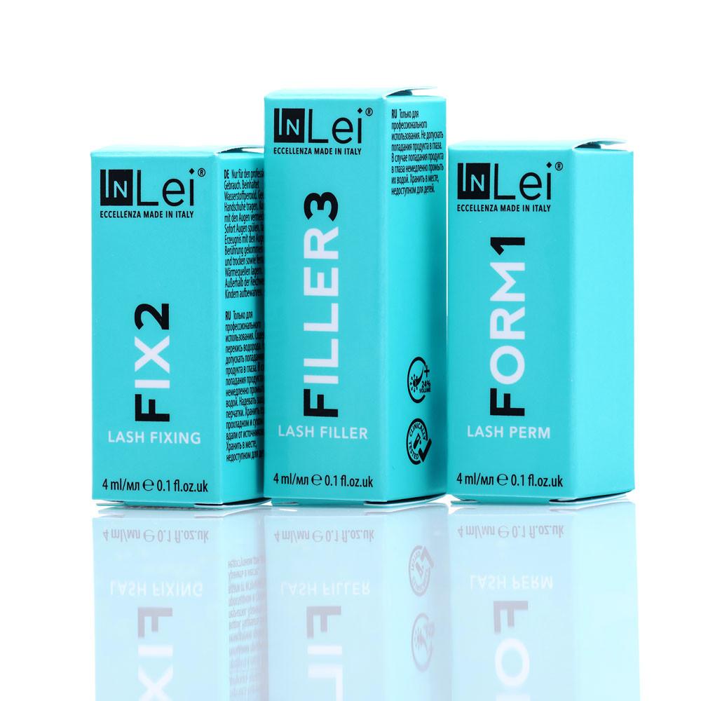 Набор составов In Lei №123 в баночке 4 ml для ламинирования ресниц и бровей