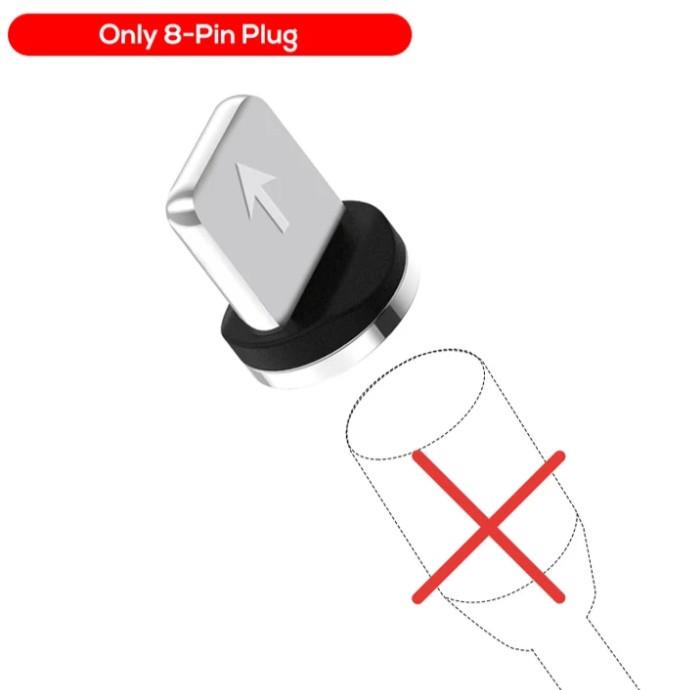 Магнітний круглий конектор Lighthing для iphone TOPK