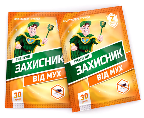 ЗАХИСНИК - гранулы от мух 30 г,  UKRAVIT