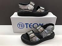 Женские кожаные босоножки Teona никель 37, 38, 39