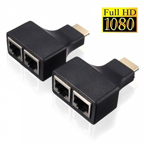 Удлинитель HDMI по витой паре (переходник HDMI - 2 x RJ45)