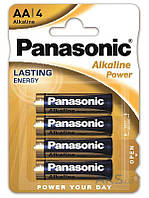 Элемент питания Panasonic AA bat Alkaline 4шт Alkaline Power (LR6REB/4BP)