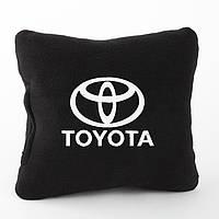 Подушка с логотипом Toyota черная_склад