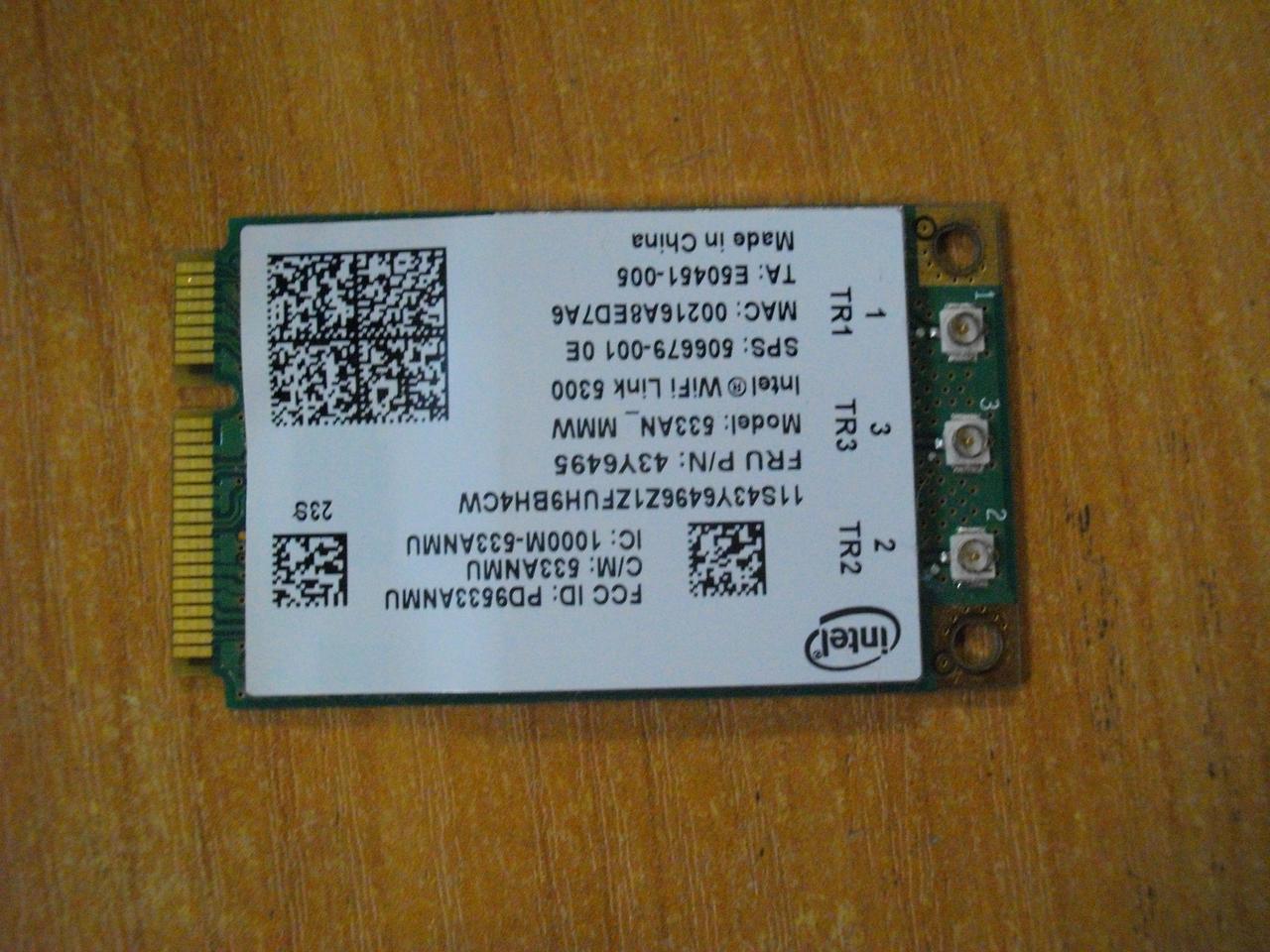 Плата WI-FI 633AN 33ANMU Lenovo W500 бу
