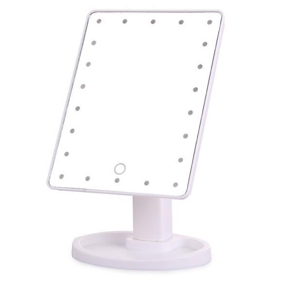 Зеркало с подсветкой 22 LED белое