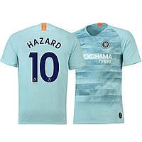Футбольная форма Челси Азар (Chelsea F.C. Hazard) 2018-2019 Гостевая 20 (на рост 120-125 см)