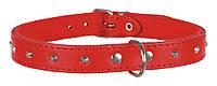 Trixie (Трикси) Basic Collar Кожаный ошейник для собак красный XS-S (26-30 см / 12 мм), фото 1