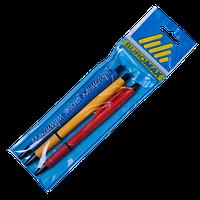 Набор ручек шариковых автоматических Buromax 0.7 мм, синий, 3 шт (BM.8215-99)
