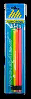 Набор карандашей графитных с резинкой Buromax Neon, НВ, 4 шт (BM.8520-4)
