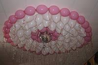 Гелиевые шарики под потолок на свадьбу.Цвета в ассортименте.