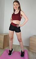 Спортивный женский комплект с шортами и топом для занятий фитнесом 42-48р