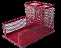 Подставка для офисных принадлежностей металлическая Buromax, красная (BM.6242-05)