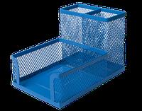 Подставка для офисных принадлежностей металлическая Buromax, синяя (BM.6242-02)