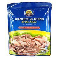 Тунец в оливковом масле Trancetti di Tonno All'Olio di oliva Athena, 300 гр.