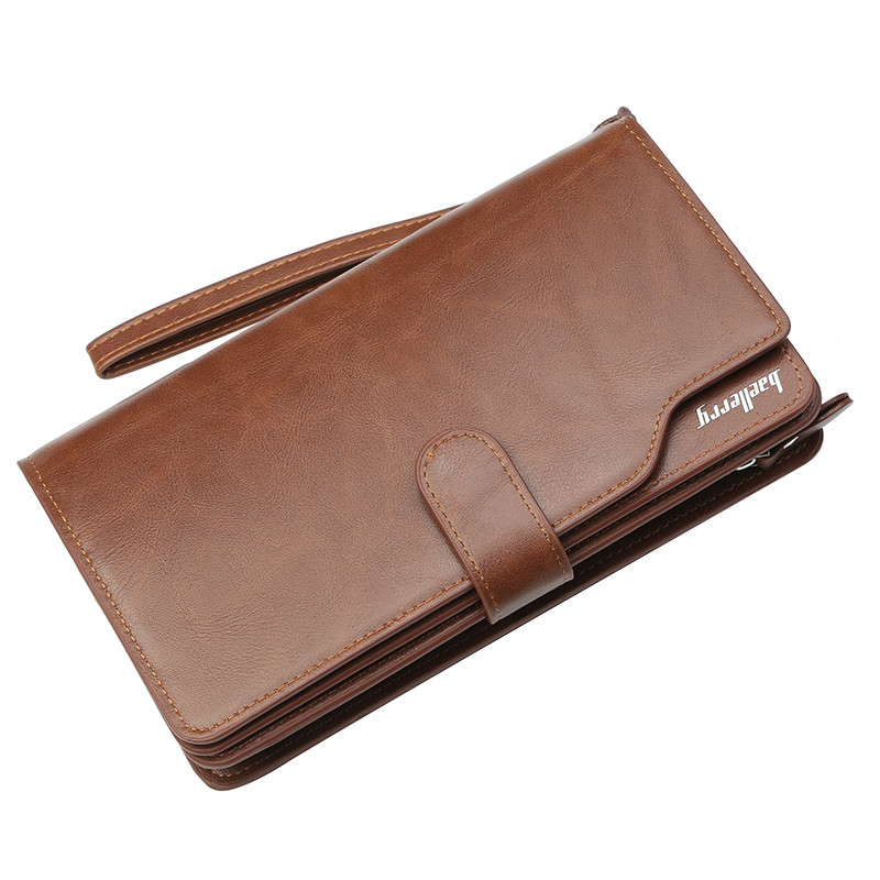 Кошелек мужской портмоне Baellerry Business New коричневый