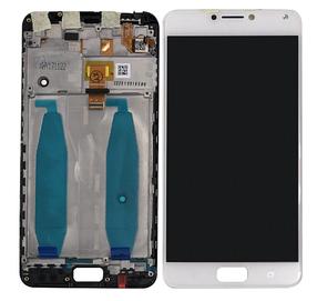 Дисплей (экран) для Asus ZenFone 4 Max (ZC554KL)/4 Max Pro + с сенсором (тачскрином) и рамкой белый Оригинал